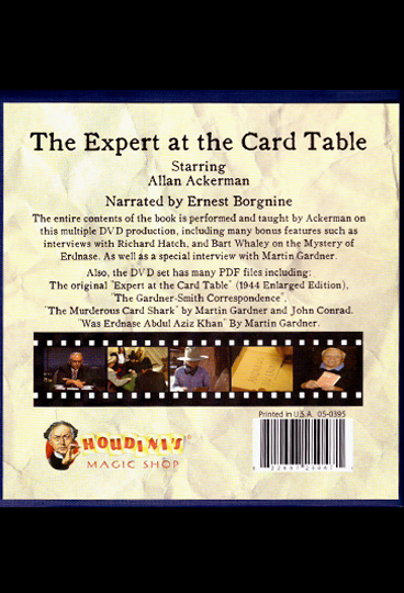 Allan AckermanThe Expert At The Card Table11 DVD Set – FOCM