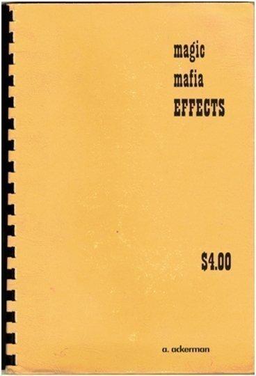 Allan Ackerman Magic Mafia Effects Book