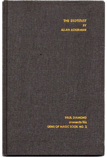 Allan Ackerman The Esoterist Book